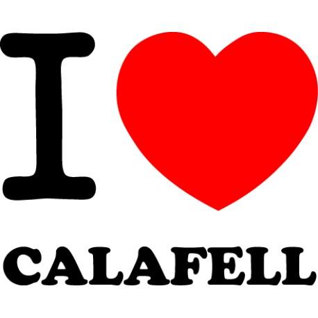 Adhesivo i love Calafell