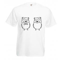 Camiseta pareja búhos
