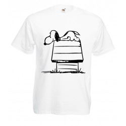 Camiseta Snoopy casita
