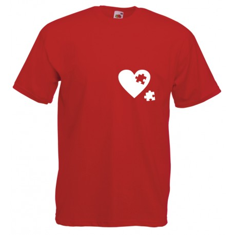 Camiseta corazón puzzle