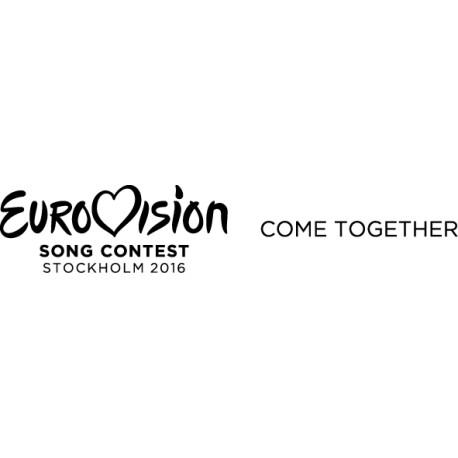 Vinilo adhesivo Eurovision 2016 lema