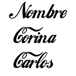Vinilo nombre Coca Cola personalizado
