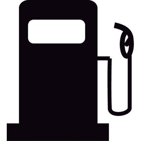 Vinilo adhesivo surtidor gasolina