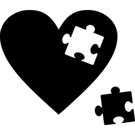 Vinilo corazón puzzle