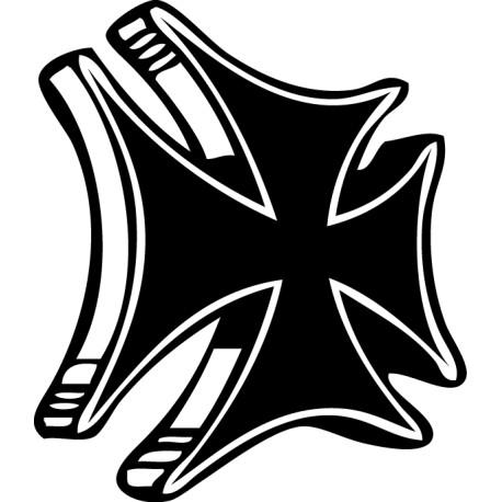 Pegatina cruz chopper cruz de malta