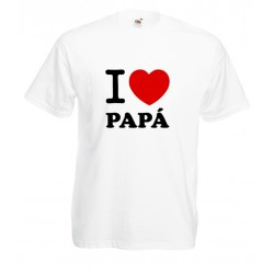 Camiseta i love papá