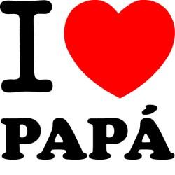 Vinilo i love Papá
