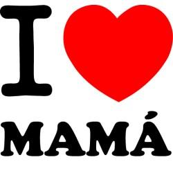 Vinilo i love Mamá