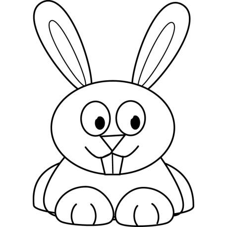 Vinilo decorativo conejo