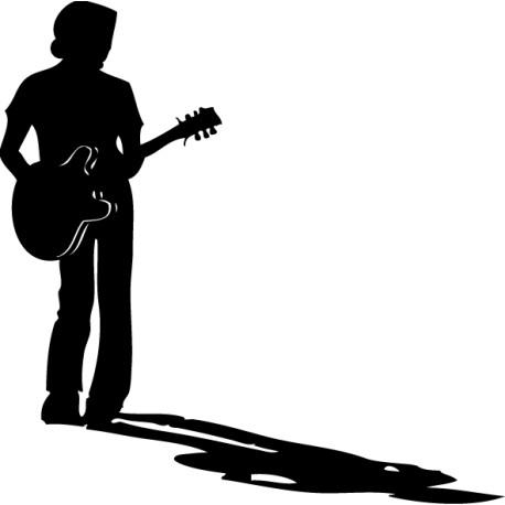 Vinilo decorativo músico guitarrista