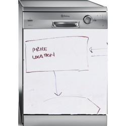 Pizarra blanca adhesiva para lavavajillas