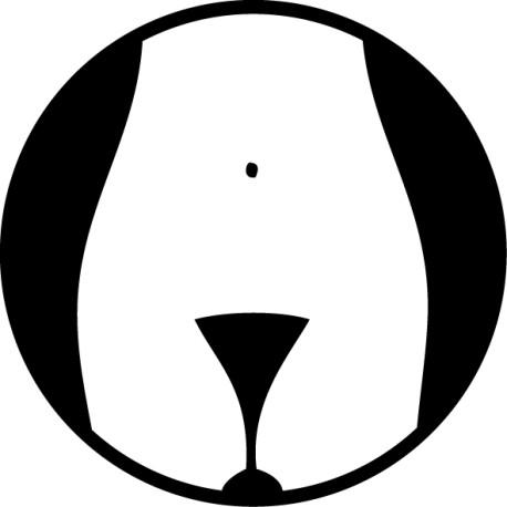 Vinilo señal lavabo mujeres