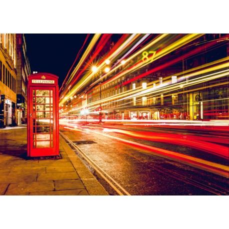 Fotomural Londres cabina noche