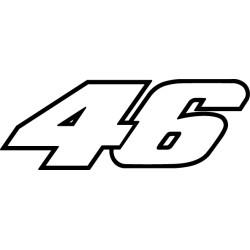 Pegatina Valentino Rossi 46