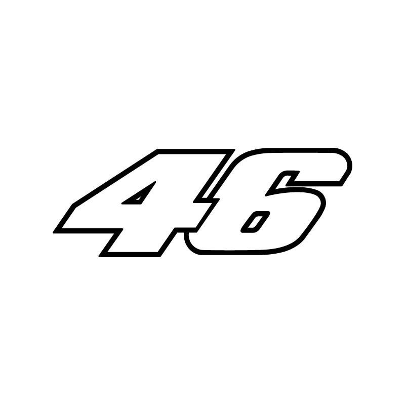 Pegatina Valentino Rossi 46   vinilos il dotore   pegatinas motos