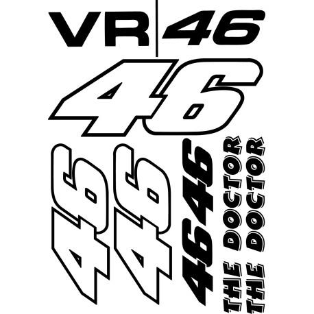 Kit de pegatinas Valentino Rossi