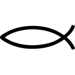 Pegatina Ichthys pez cristiano Jesús
