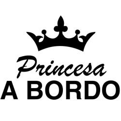 Pegatina princesa a bordo