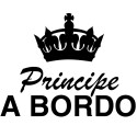 Pegatina príncipe a bordo