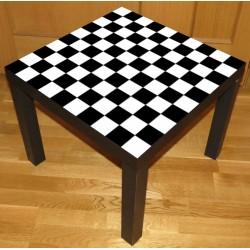 Vinilo tablero juego ajedrez y damas mesa lack