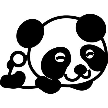 Vinilo infantil panda durmiendo
