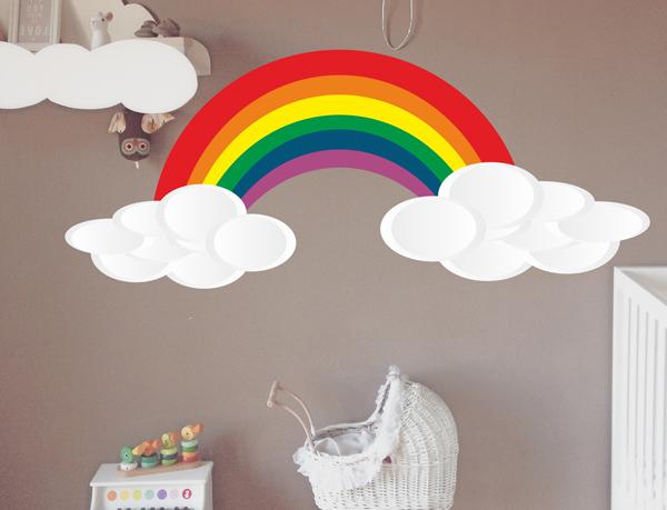 Vinilo Nubes Arco Iris Blog De Decoración Con Vinilos