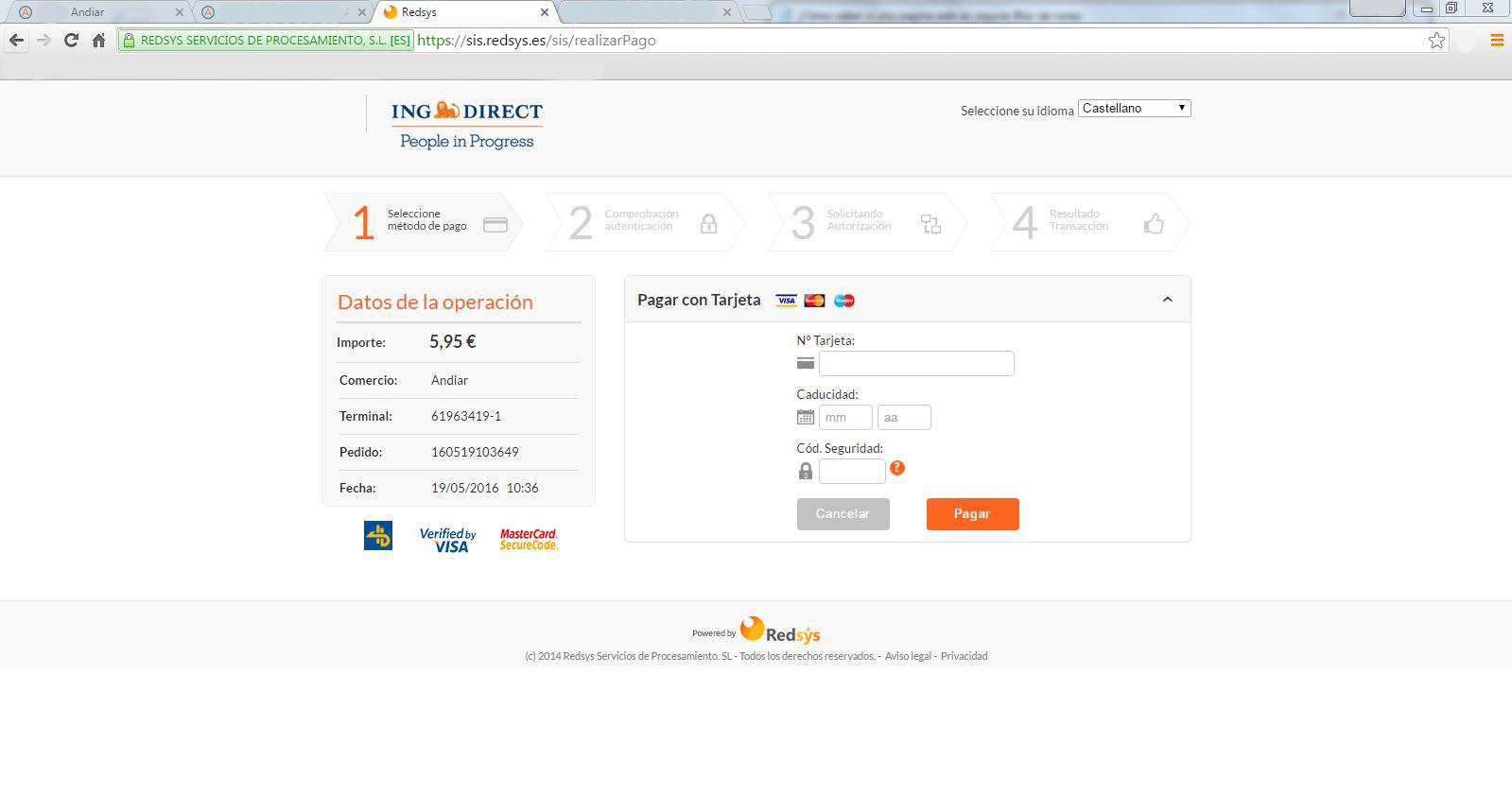 Pago seguro en tiendas online